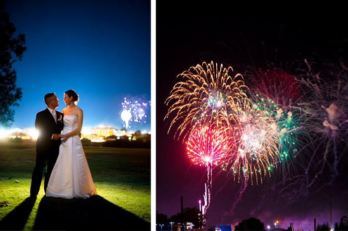 fireworks Laura + Paul | Raleigh, NC Wedding
