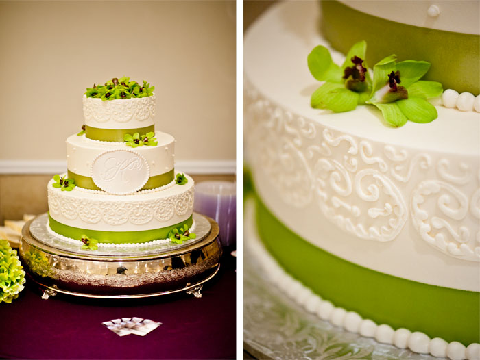 Wedding Cake Dottie + Zack | Raleigh, NC Wedding