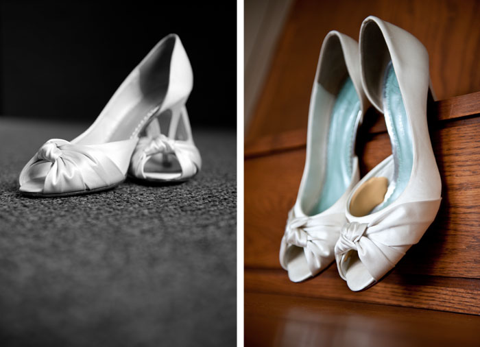 bridal shoes Dottie + Zack | Raleigh, NC Wedding