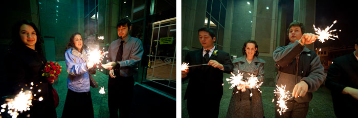 sparklers Dottie + Zack | Raleigh, NC Wedding