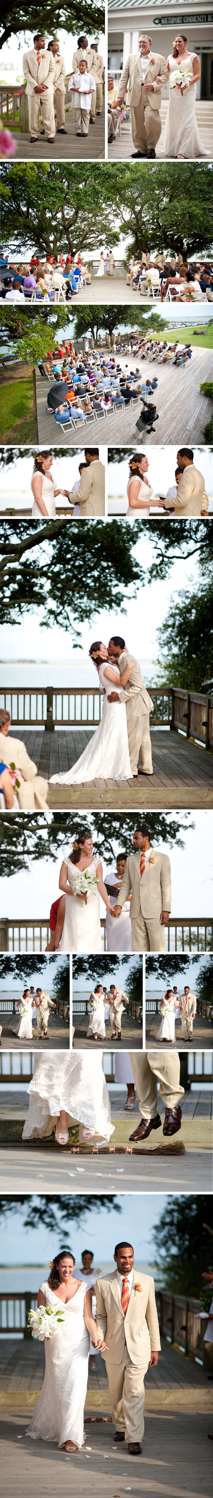 NC wedding ceremony Kara + Joshua | Southport, NC Wedding
