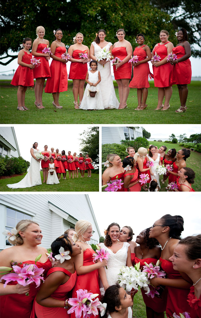 bridesmaids Kara + Joshua | Southport, NC Wedding