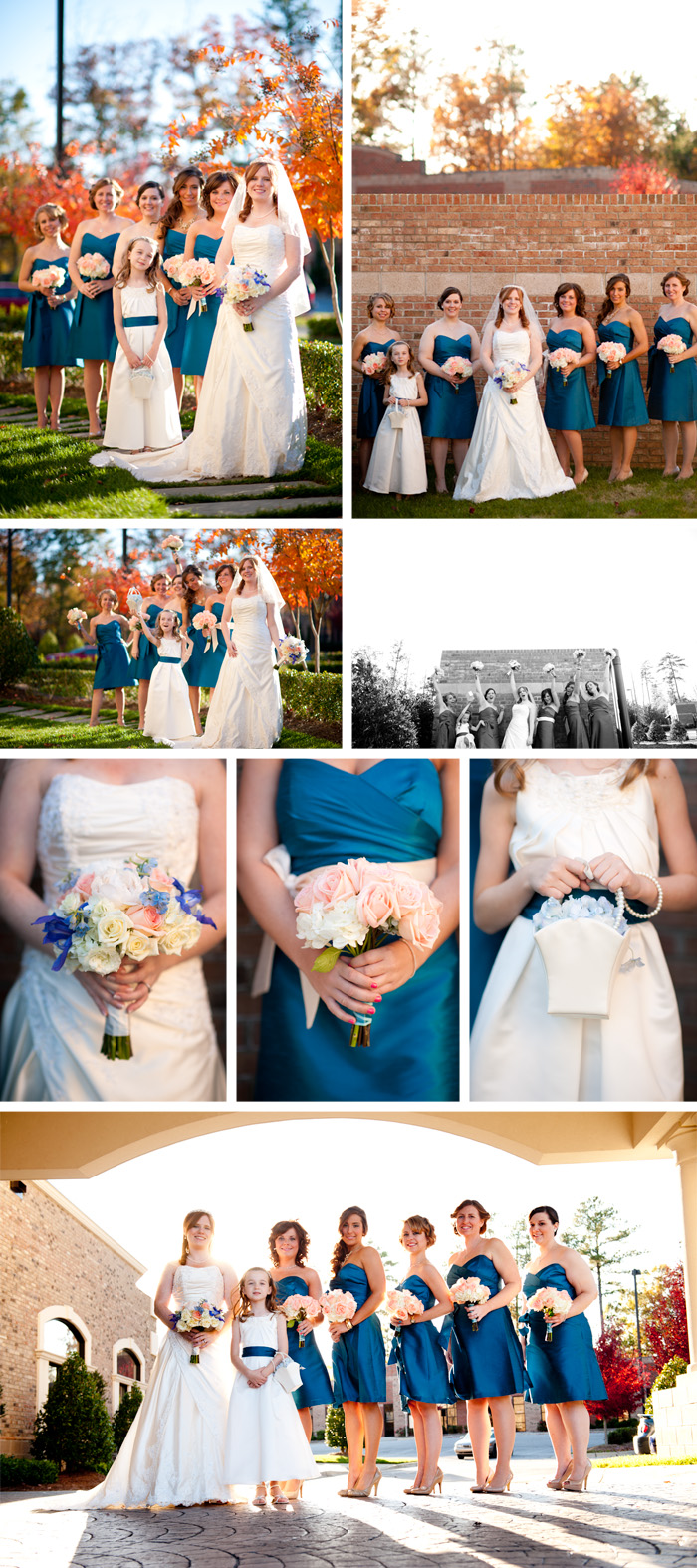 bridesmaids1 Jillian + Charles | Garner, NC Wedding