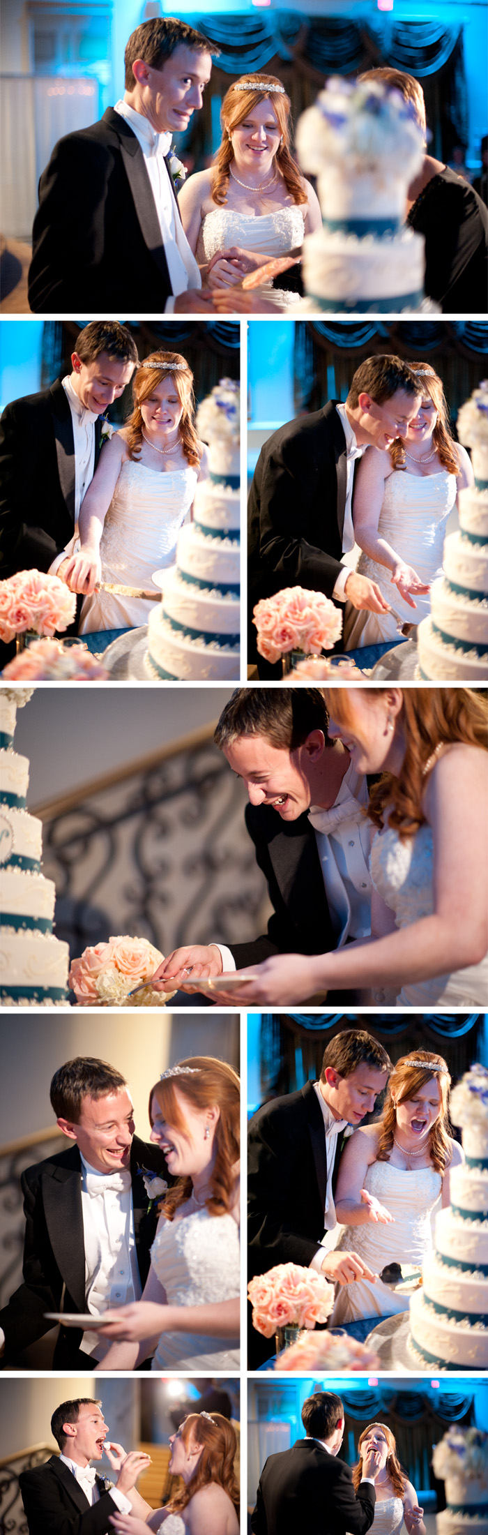 cake cutting2 Jillian + Charles | Garner, NC Wedding