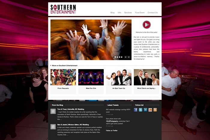 website The New Southern Entertainment!