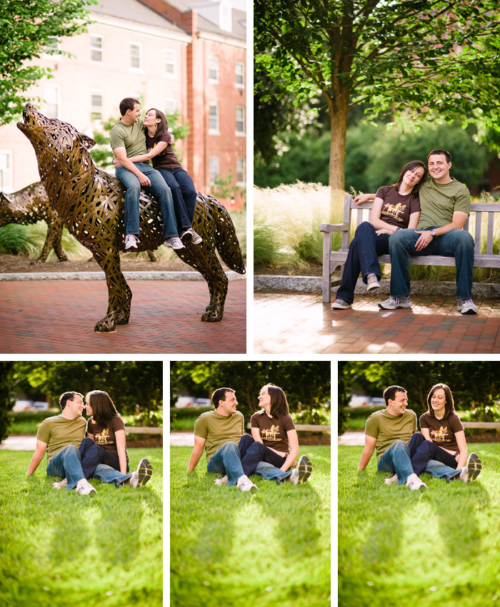 nc State engaged couple Stacy + Derek | Raleigh, NC Engagement