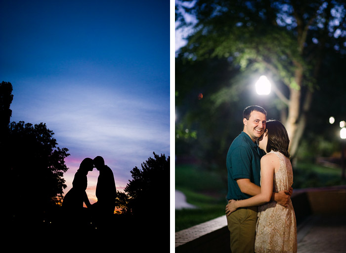 night Stacy + Derek | Raleigh, NC Engagement