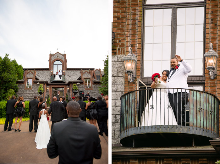 balcony1 Jamila + Corey | Angier, NC Wedding