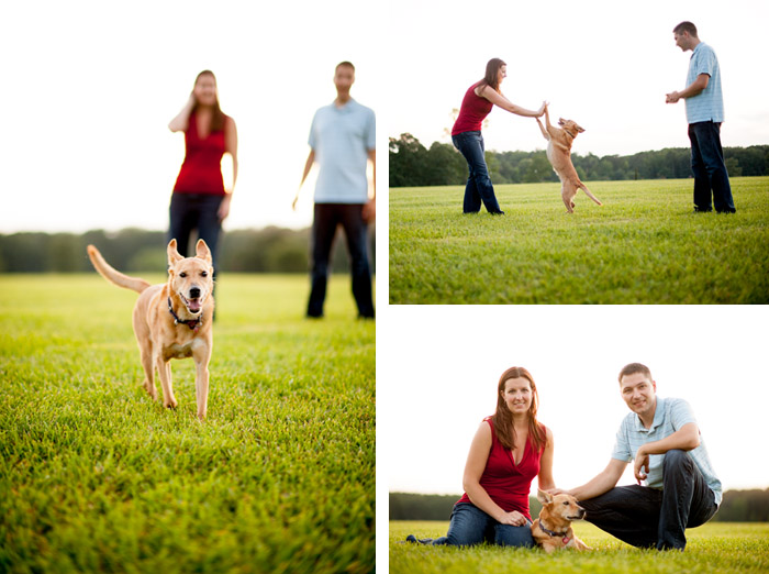 dog Cindy + Per | Nashville, NC Engagement