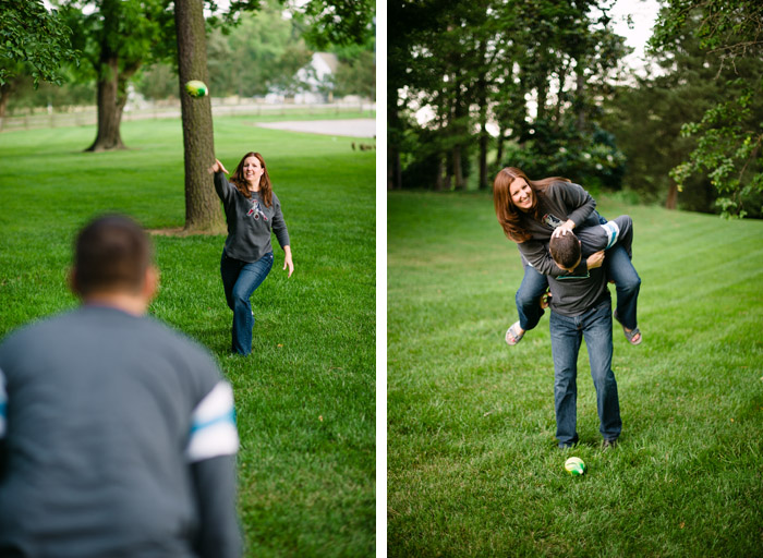 football Cindy + Per | Nashville, NC Engagement