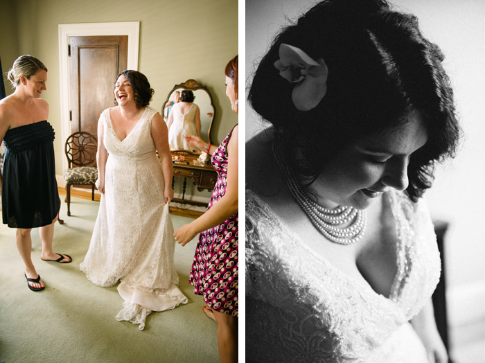getting ready Andrea + Hugh | Durham, NC Wedding