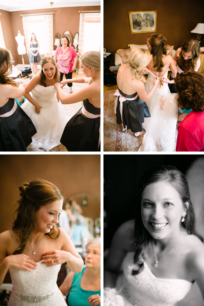 getting ready Tiffany & John | Fuquay Varina, NC Wedding