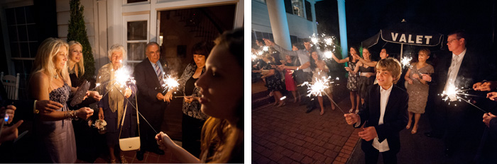sparklers Tiffany & John | Fuquay Varina, NC Wedding