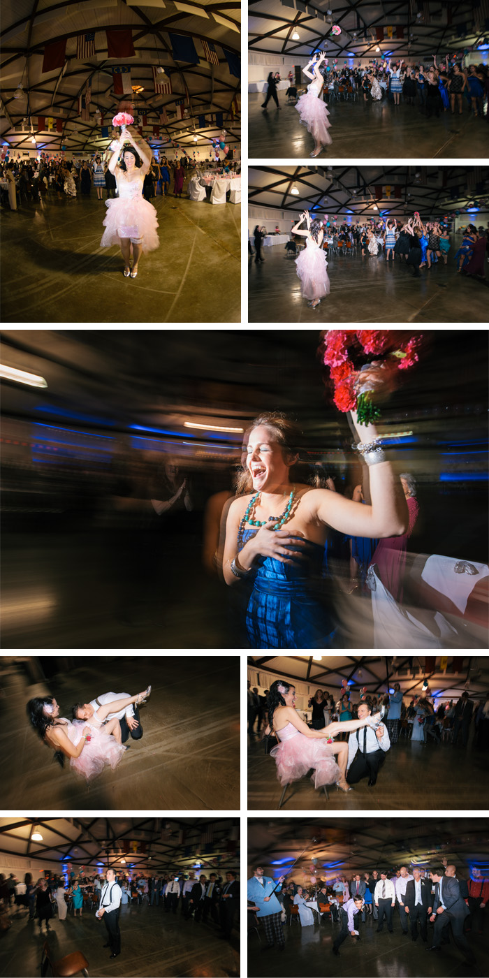 bouquet toss Elizabeth + Juan | Raleigh, NC Wedding