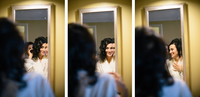 bride getting ready Elizabeth + Juan | Raleigh, NC Wedding