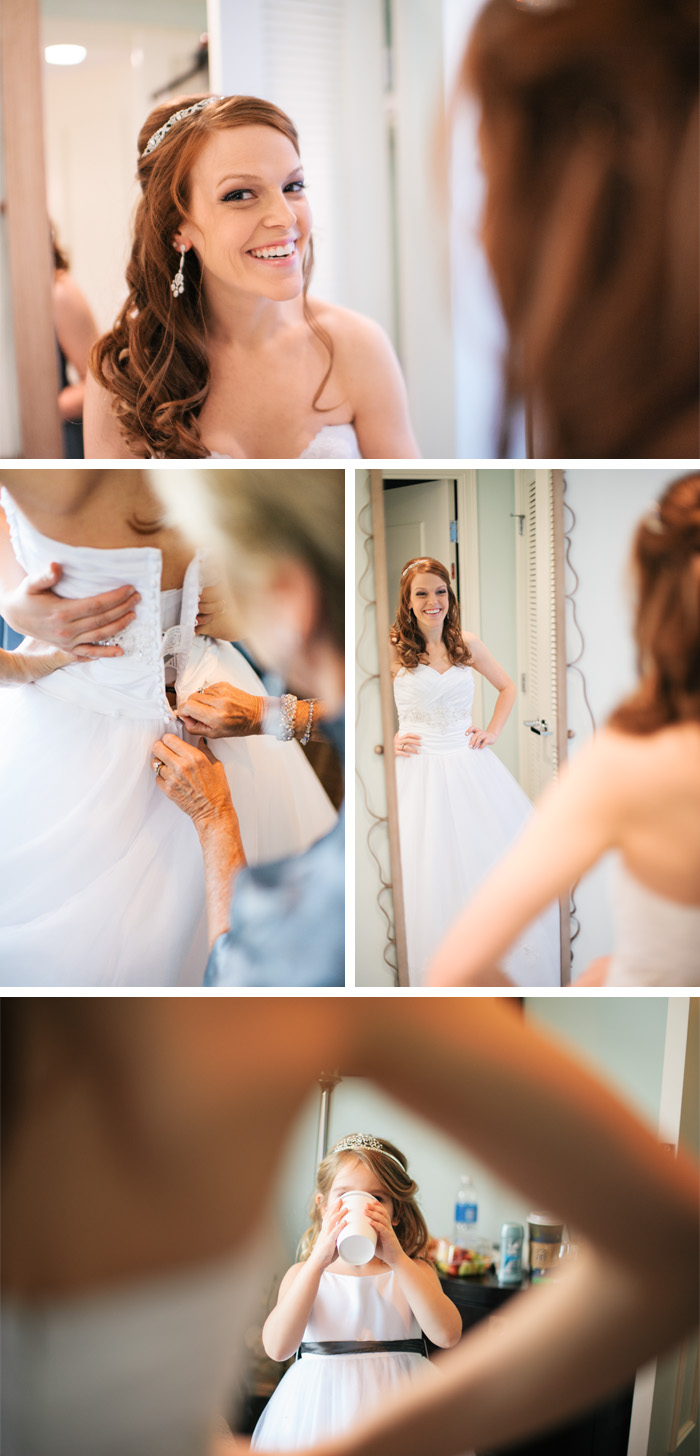 bride getting ready1 Charlotte + Tony | Chapel Hill, NC Wedding