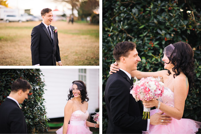 first look Elizabeth + Juan | Raleigh, NC Wedding