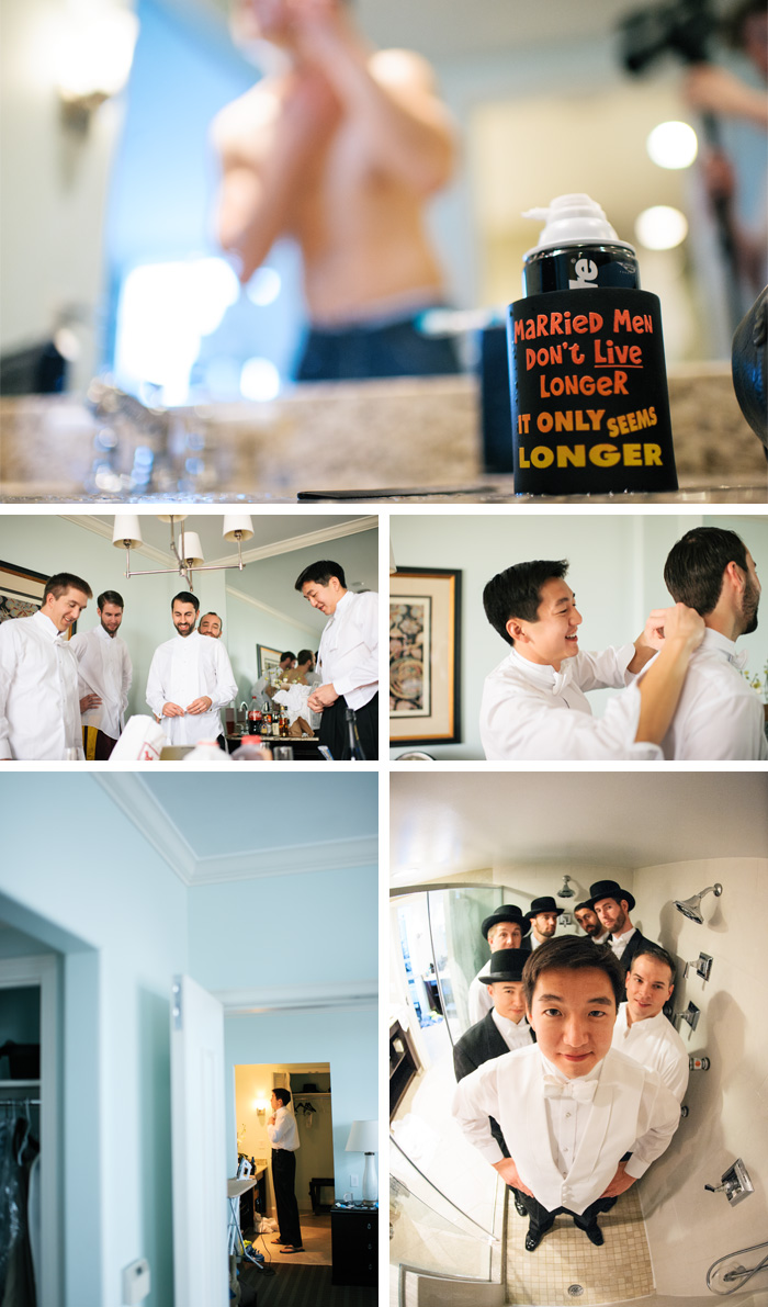 guys getting ready Charlotte + Tony | Chapel Hill, NC Wedding