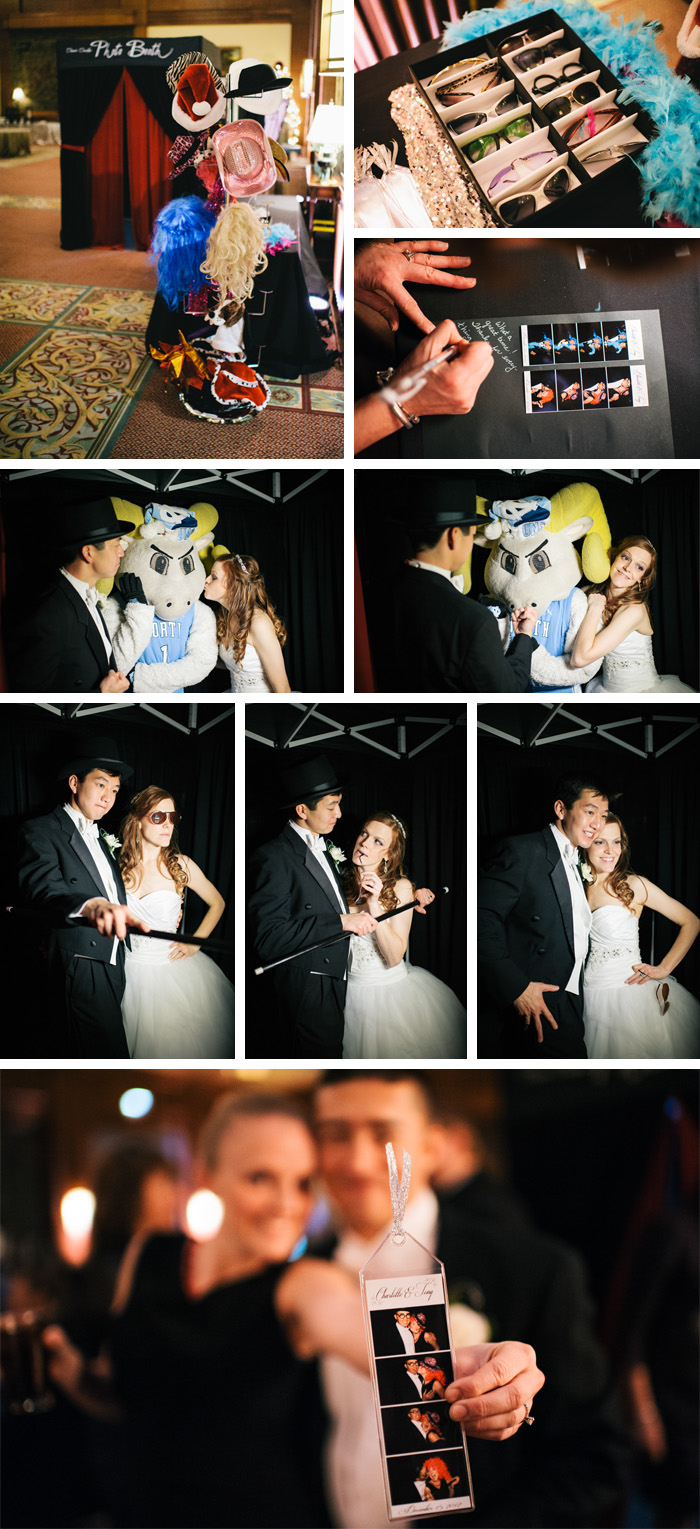 photobooth Charlotte + Tony | Chapel Hill, NC Wedding